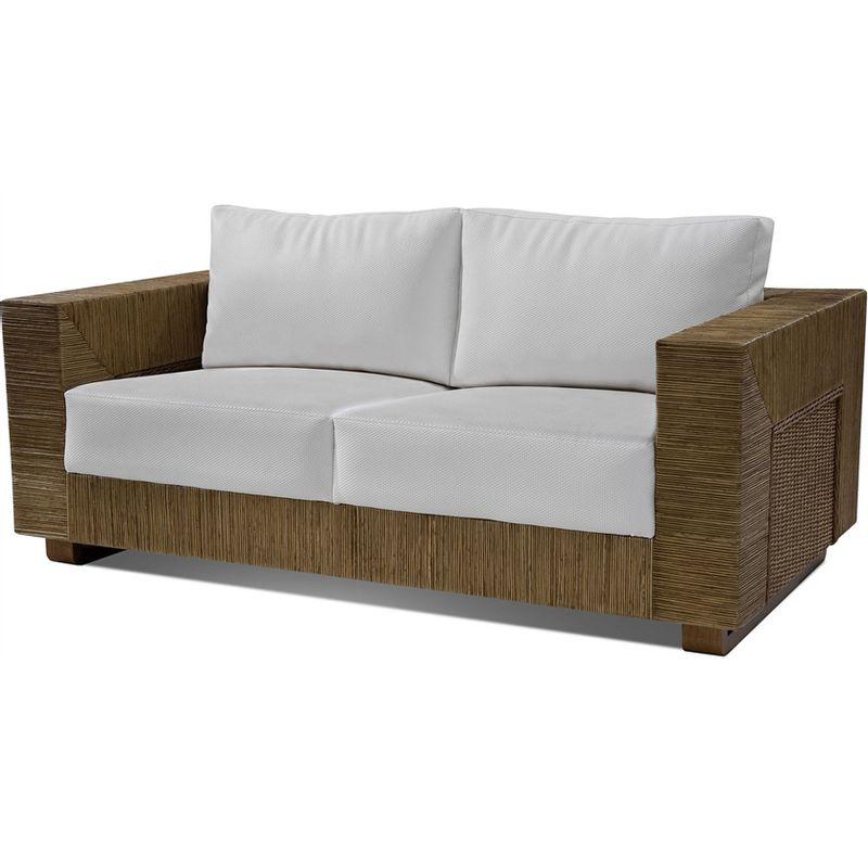 Sofa-Maden-2-Lugares-Assento-cor-Branco-com-Base-Madeira-Revestido-em-Junco---44778