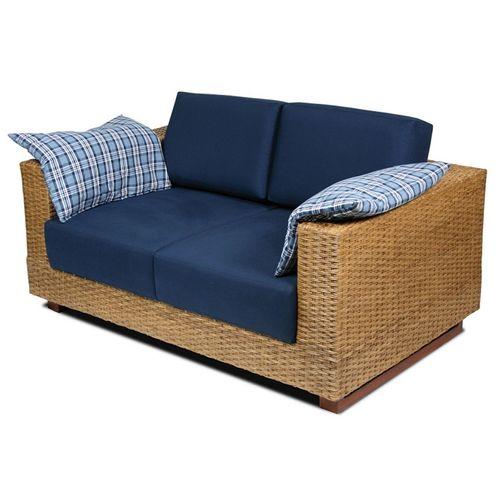 Sofa-Salinas-2-Lugares-Assento-cor-Azul-Marinho-com-Base-Madeira-Revestida-em-Junco---44784