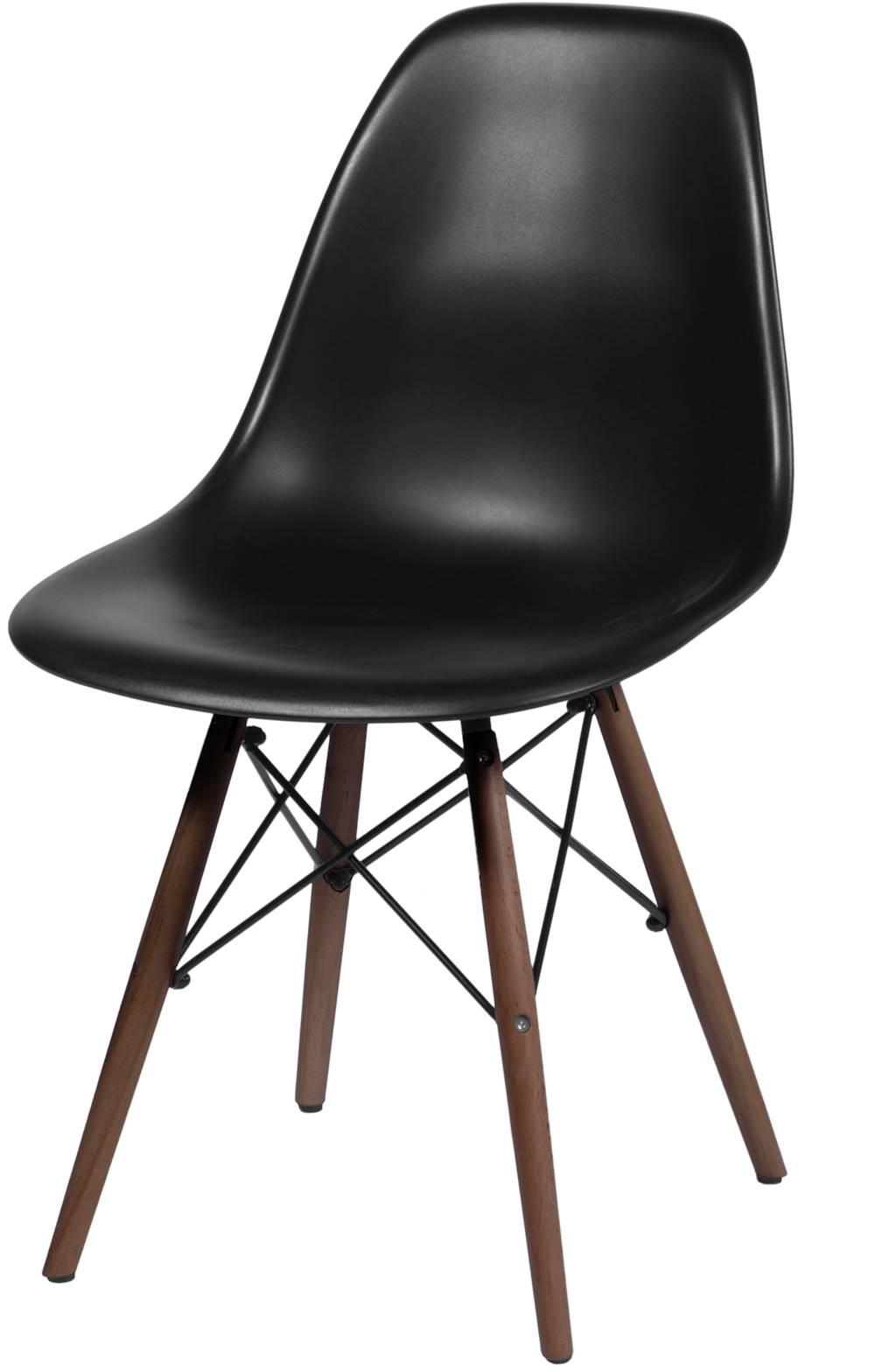Cadeira Eames Polipropileno Preto Base Escura - 44829
