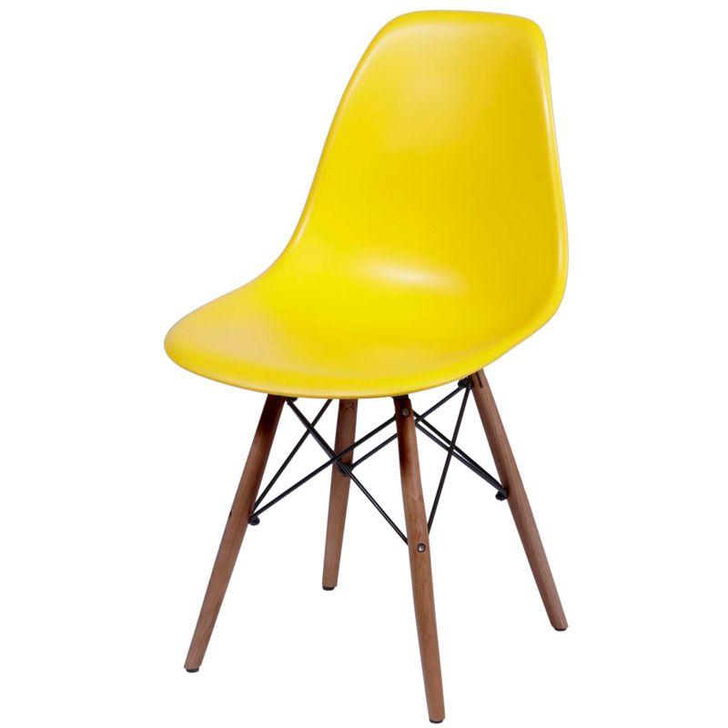 Cadeira-Eames-Polipropileno-Amarelo-Fosco-Base-Escura---44832-