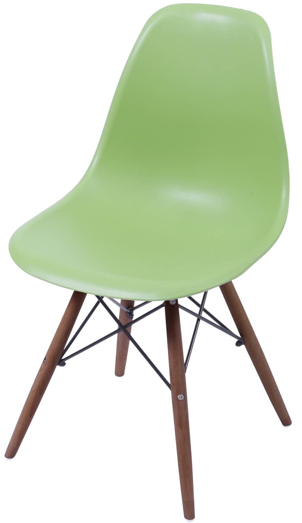 Cadeira Eames Polipropileno Verde Base Escura - 44834