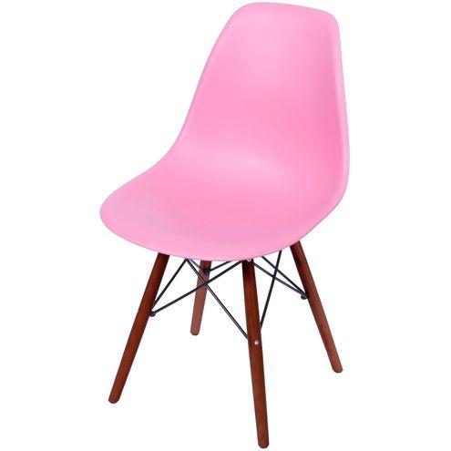 Cadeira-Eames-Polipropileno-Rosa-Fosco-Base-Escura---44836