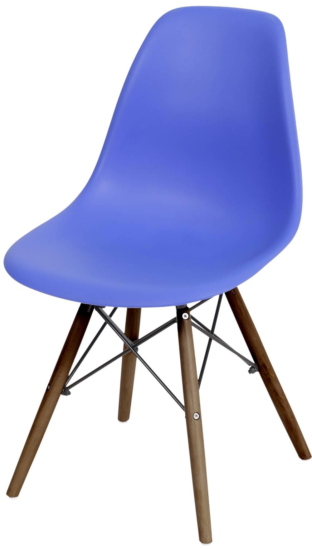 Cadeira Eames Polipropileno Azul Escuro Base Escura - 44838