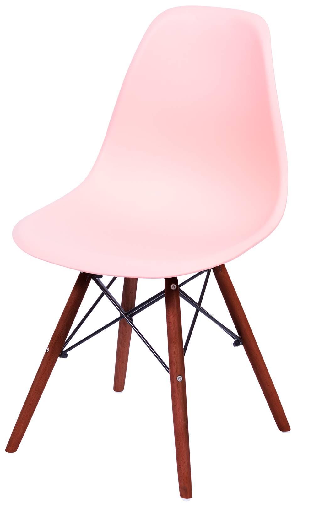 Cadeira Eames Polipropileno Salmao Base Escura - 44840