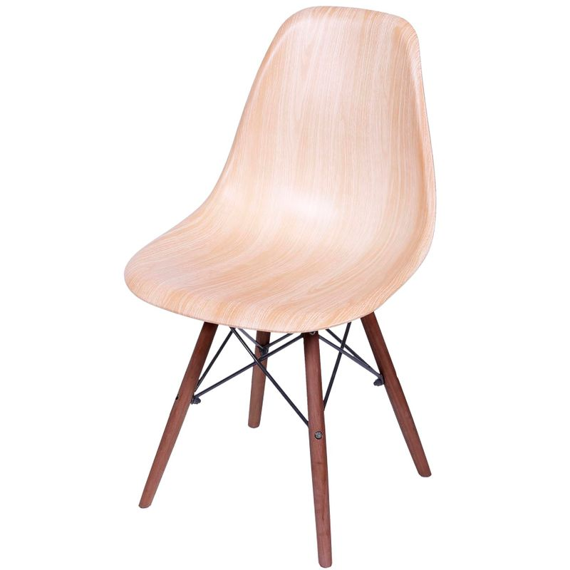 Cadeira-Eames-Polipropileno-Amadeirado-Claro-Base-Escura---44854-