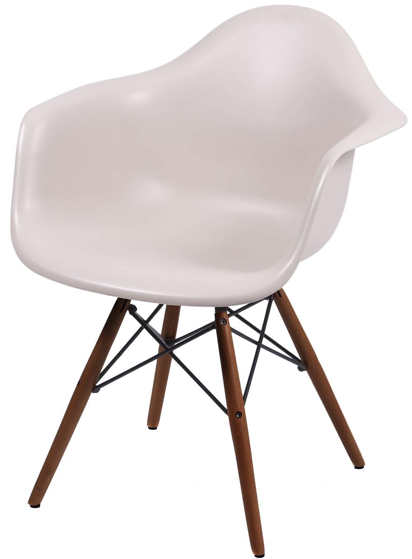 Cadeira Eames com Braco Base Escura Fendi Fosco - 44883