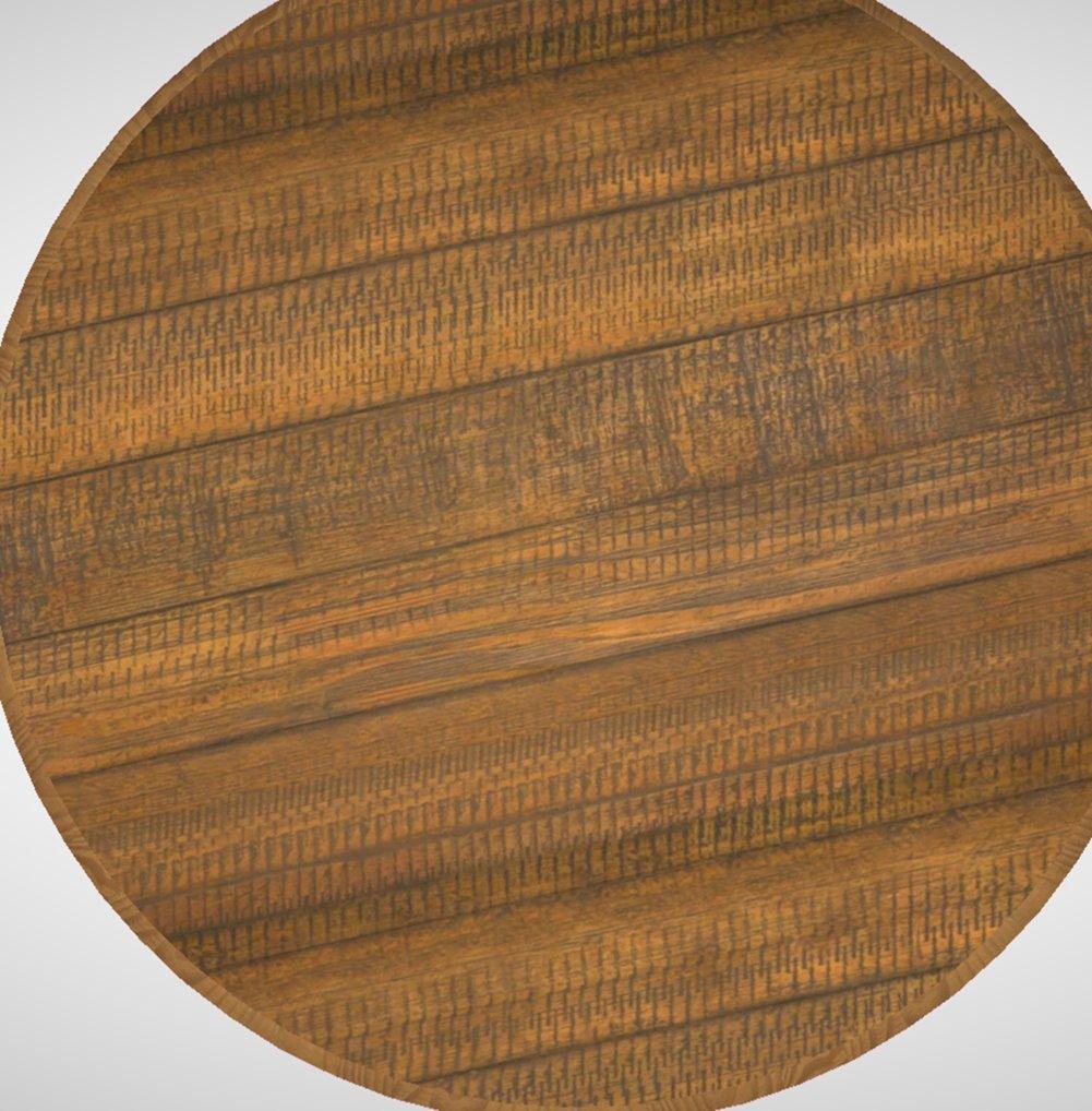 Mesa Lateral Redonda Trianon Metal Grafite Rustic Brown 50 cm (LARG) - 44891