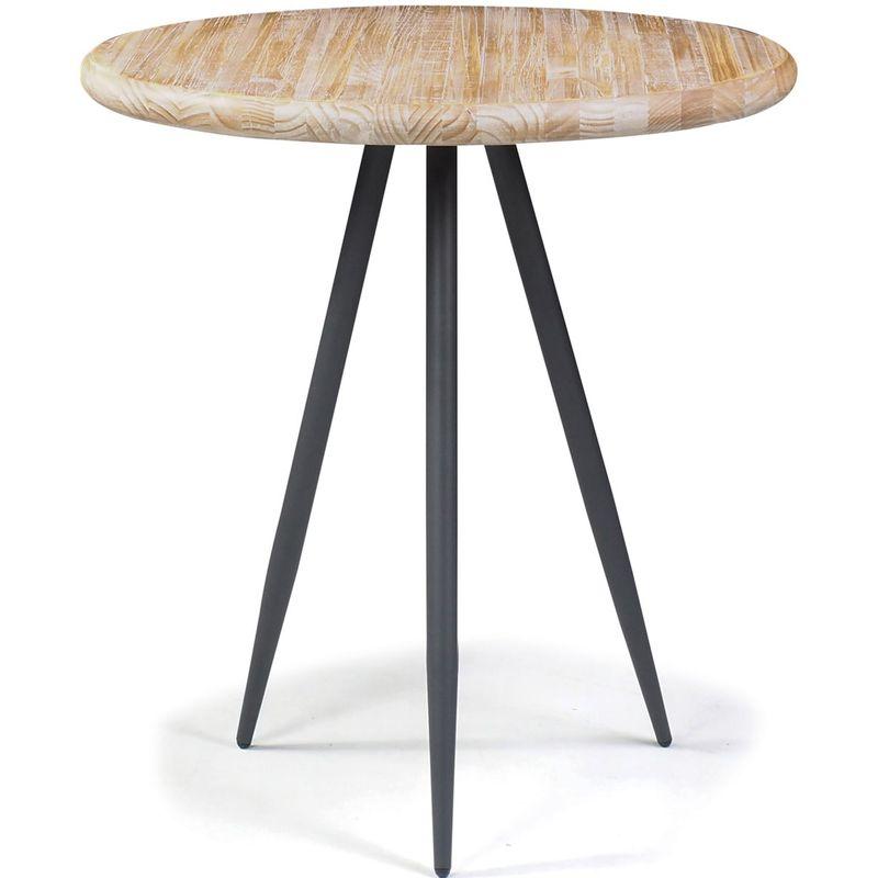 Mesa-Lateral-Redonda-Trianon-Metal-Grafite-Driftwood-50-cm--LARG--