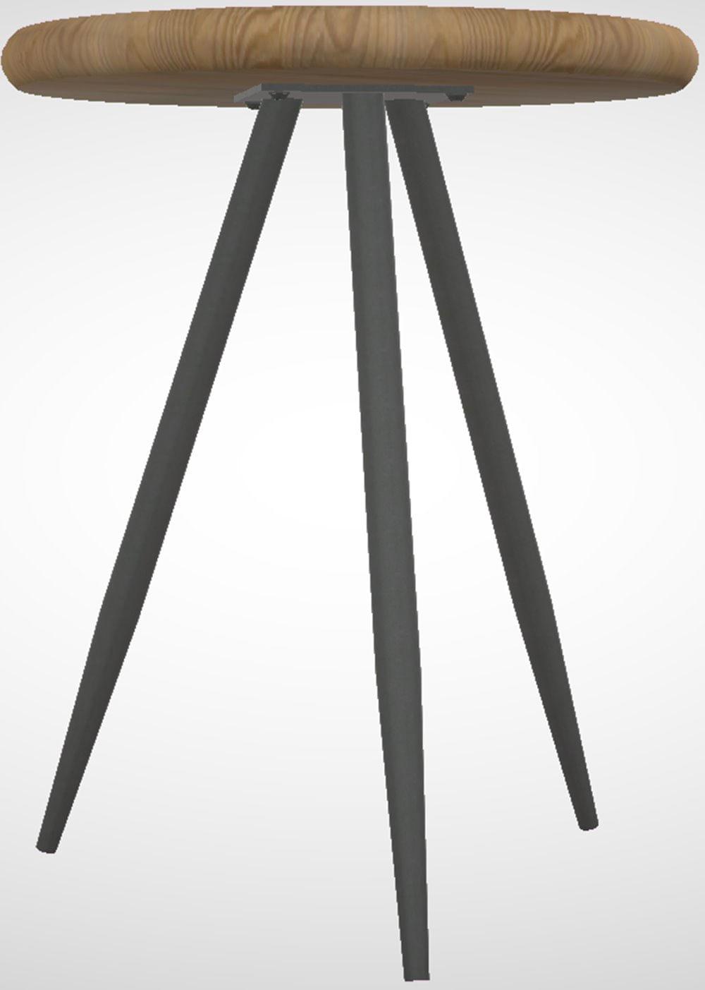 Mesa Lateral Redonda Trianon Metal Grafite Driftwood 50 cm (LARG) - 44893