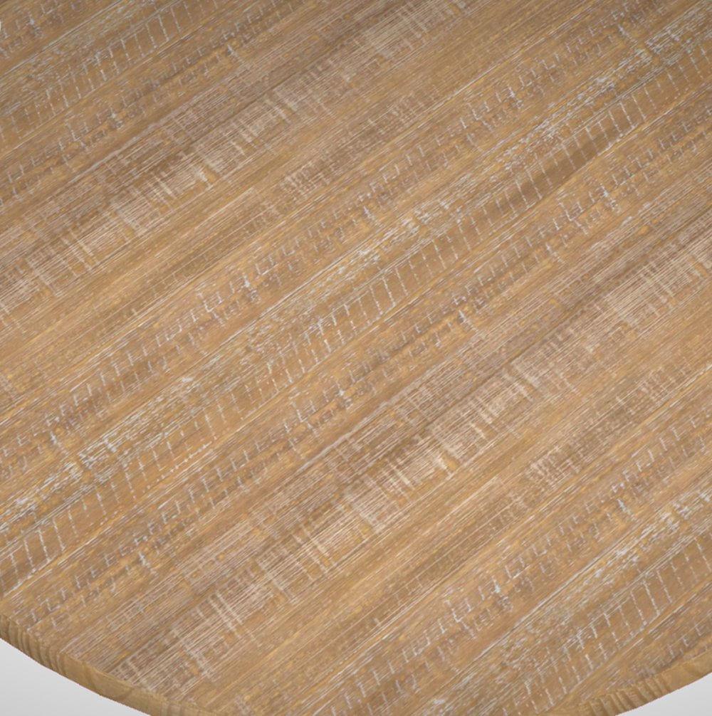 Mesa Jantar Redonda Basique Metal Grafite Driftwood 70 cm (LARG) - 43790