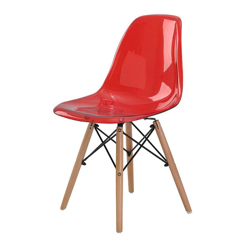 Cadeira-Eames-Eiffel-Policarbonato-Vermelho-Translucido-Base-Madeira---44194