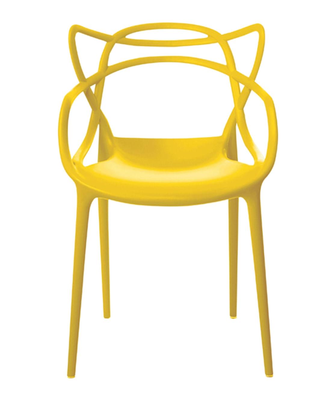 Cadeira Allegra em Polipropileno cor Amarelo - 44931