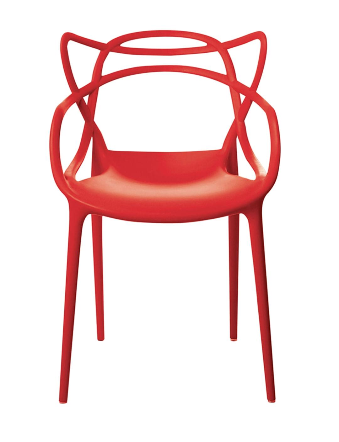 Cadeira Allegra em Polipropileno cor Vermelho - 44938
