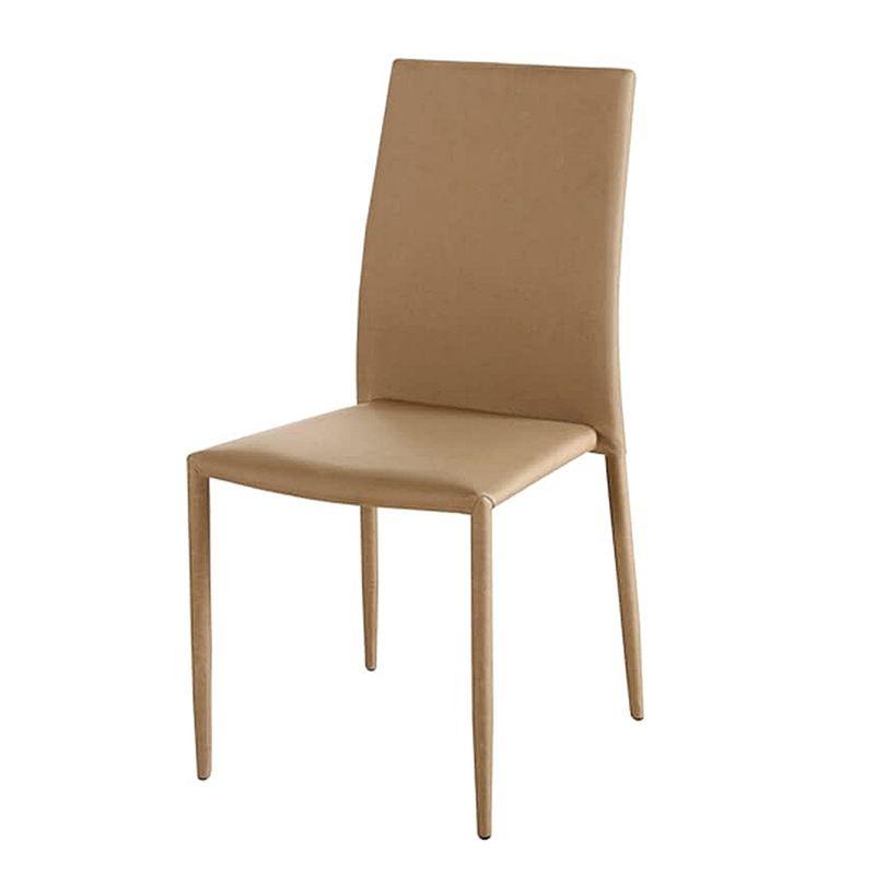 Cadeira-Amanda-6606-Estrutura-Metal-Revestido-em-Poliester-cor-Bege-Escuro---44946