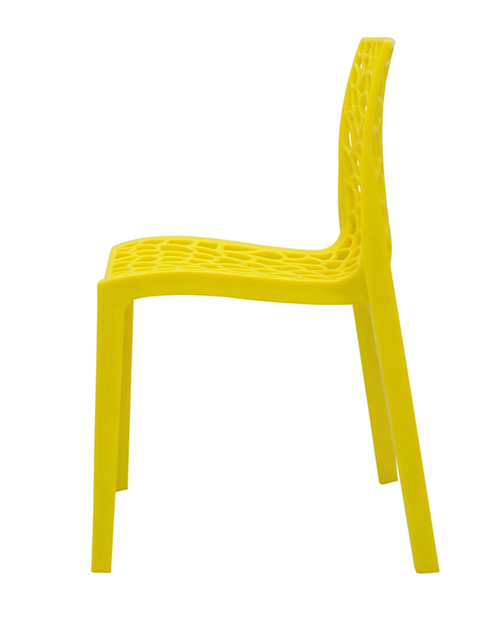 Cadeira Gruver em Polipropileno cor Amarelo - 44964