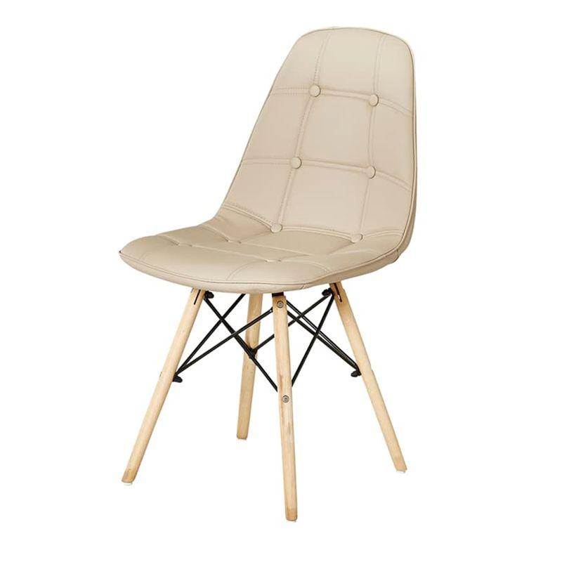Cadeira-Eames-Eiffel-Assento-cor-Nude-com-Botone-e-Base-em-Madeira---44991