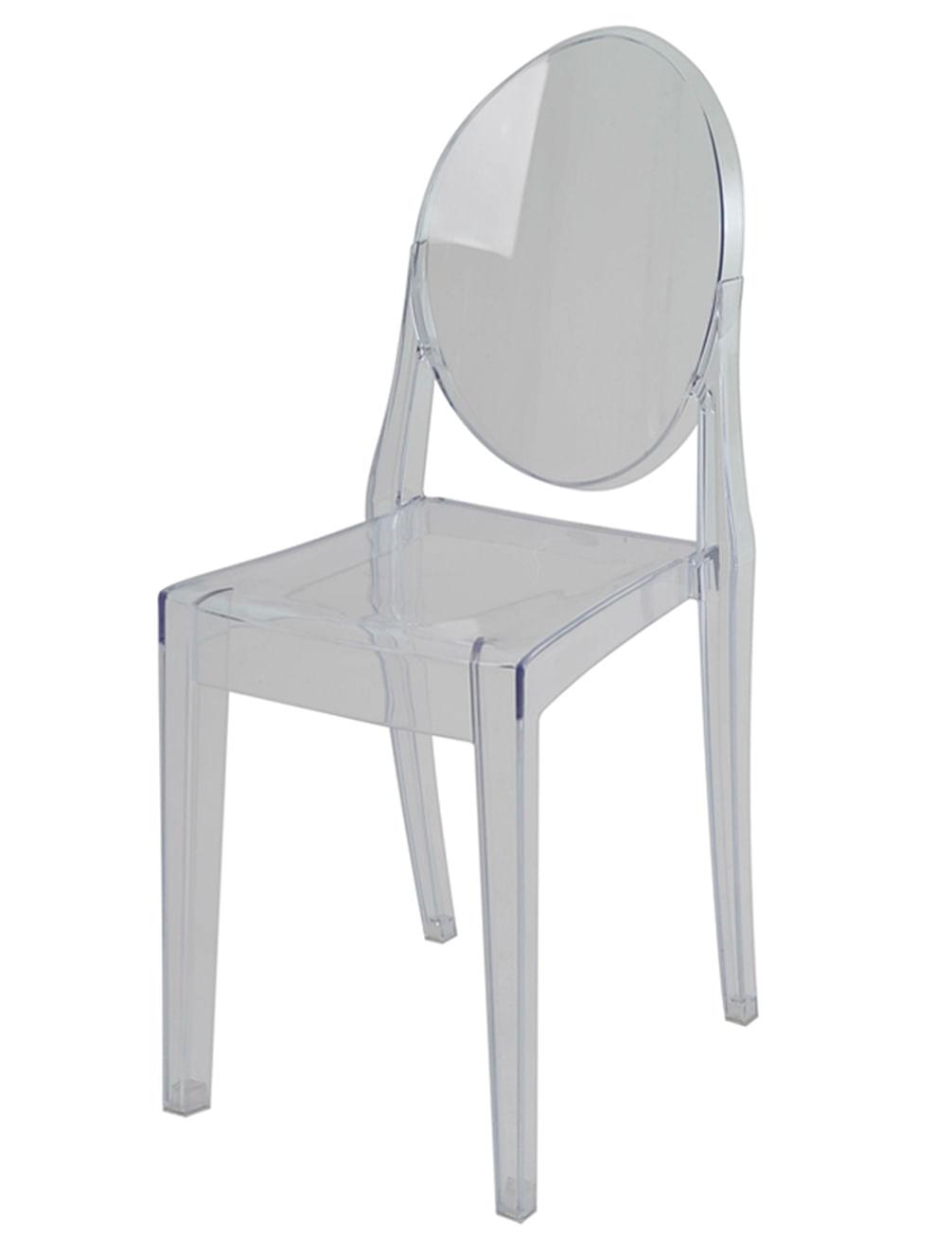 Cadeira Louis Ghost Sem Braco PC Incolor - 44153
