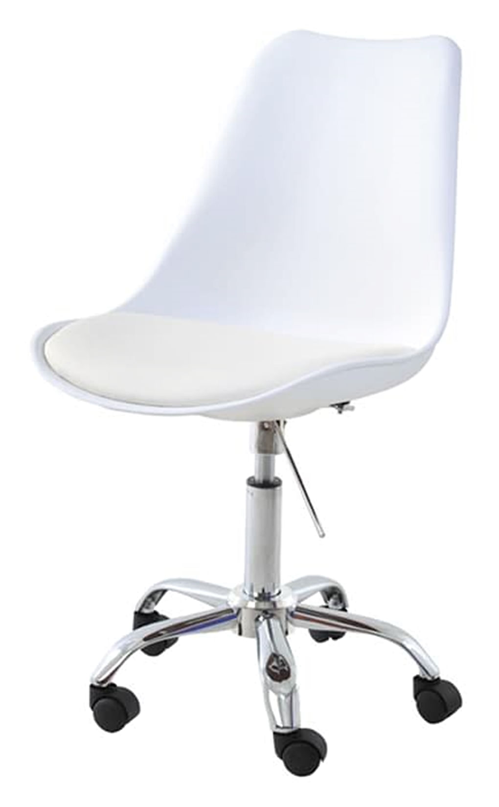Cadeira Saarinen Assento em Polipropileno cor Branco com Base Cromada - 45063
