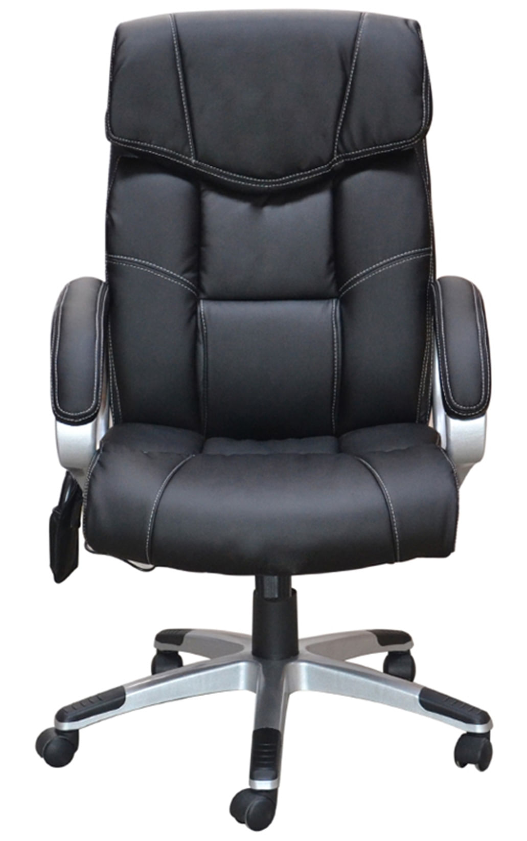 Cadeira Office Cartagena Assento PU Preto com Sistema de Massagem e Base Nylon - 45070