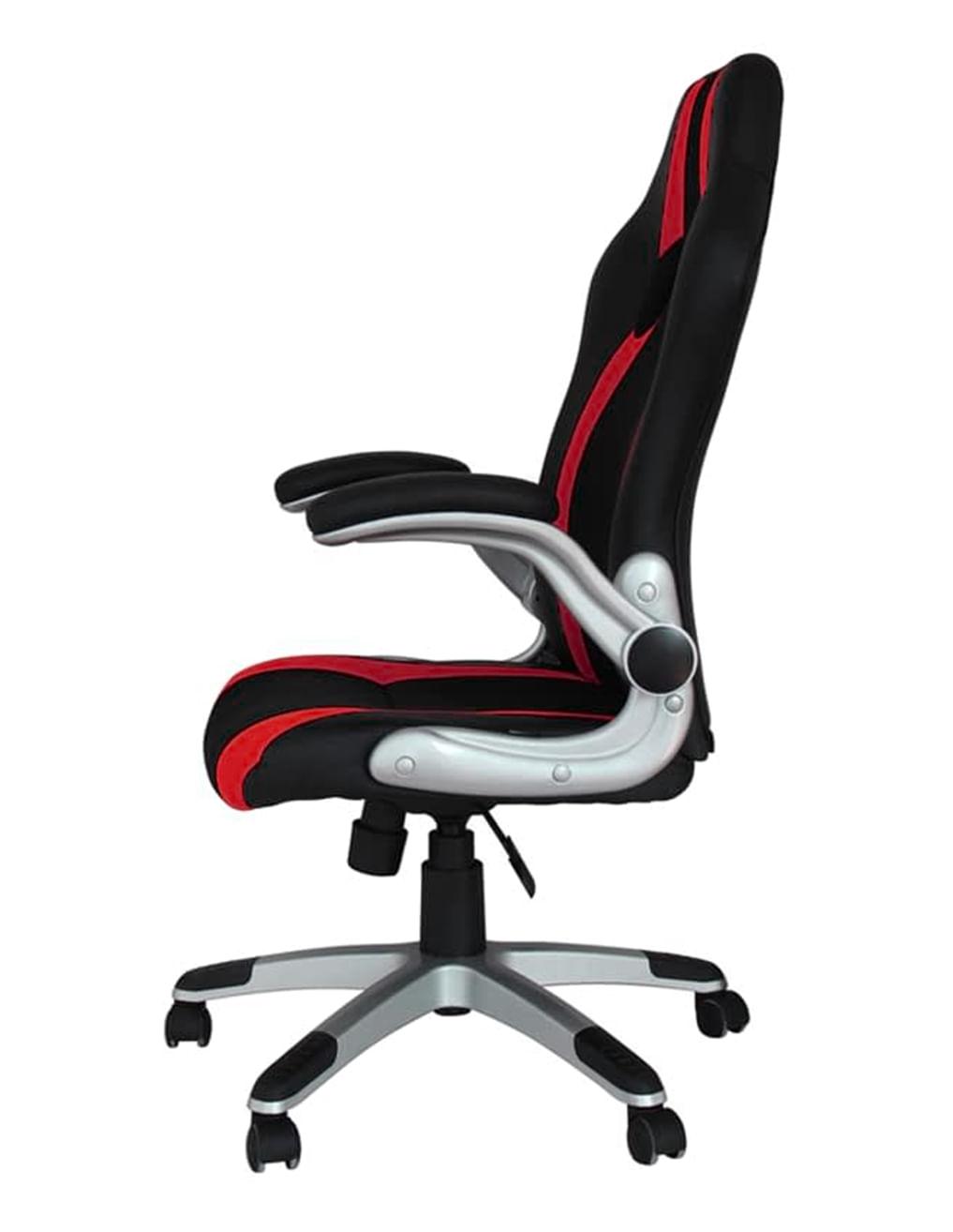 Cadeira Office Speed Preta e Vermelho com Base em Polipropileno - 45068