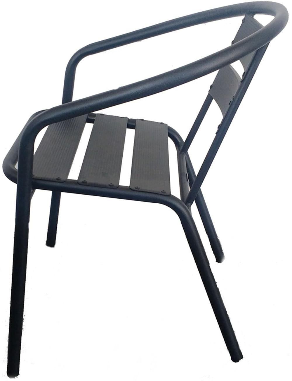 Cadeira Fun em Aluminio cor Chumbo - 44357