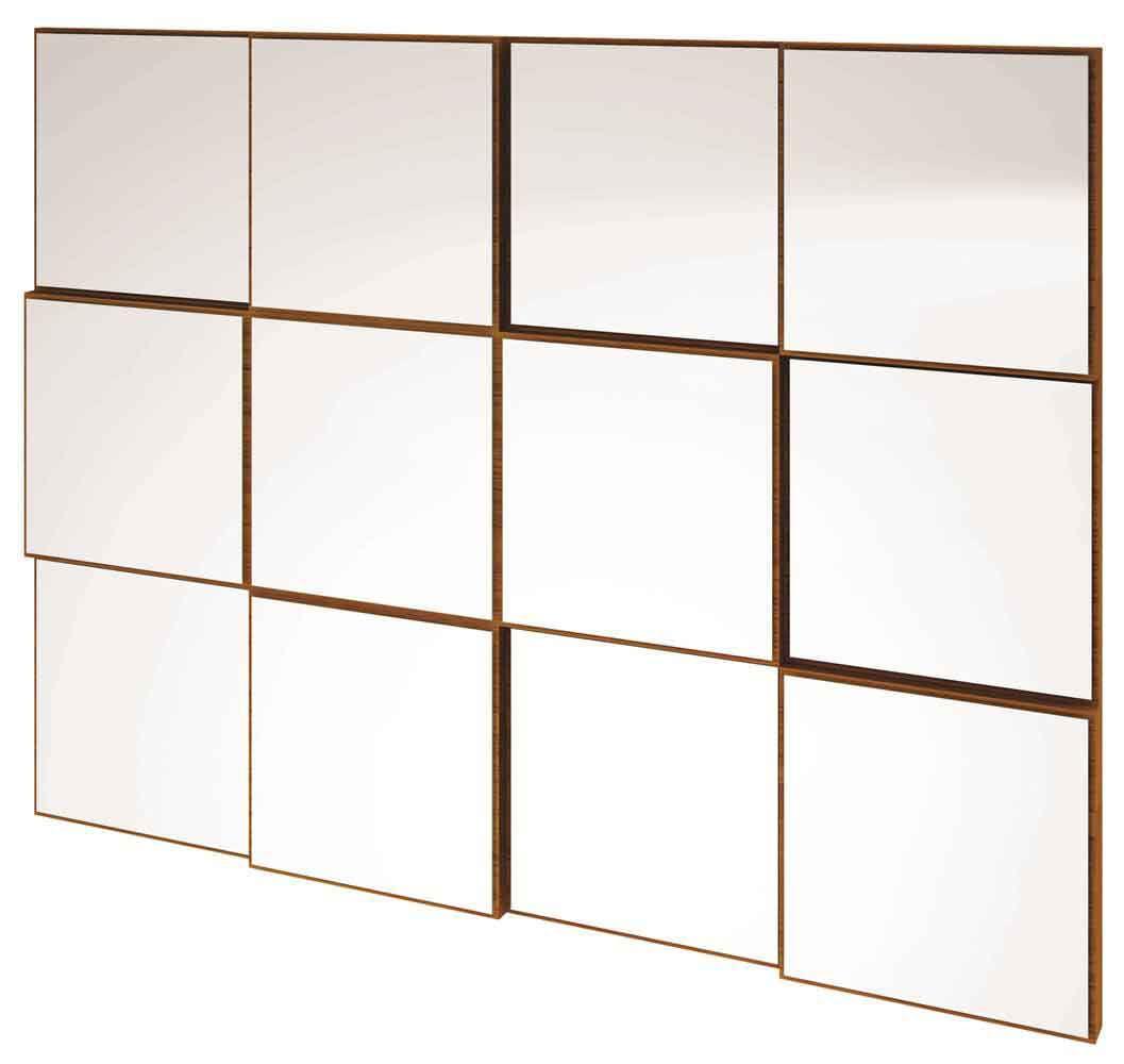 Quadro Espelho Block Medio 1,00 MT (LARG) cor Nobre - 39765