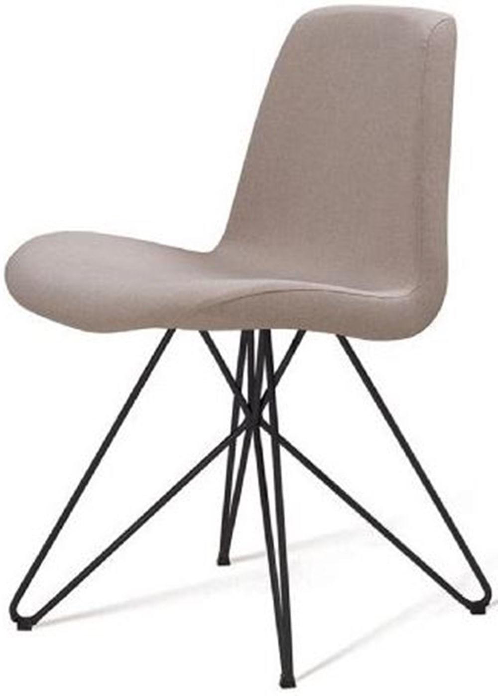 Cadeira Eames Estofada Bege Base Butterfly Preta - 45171