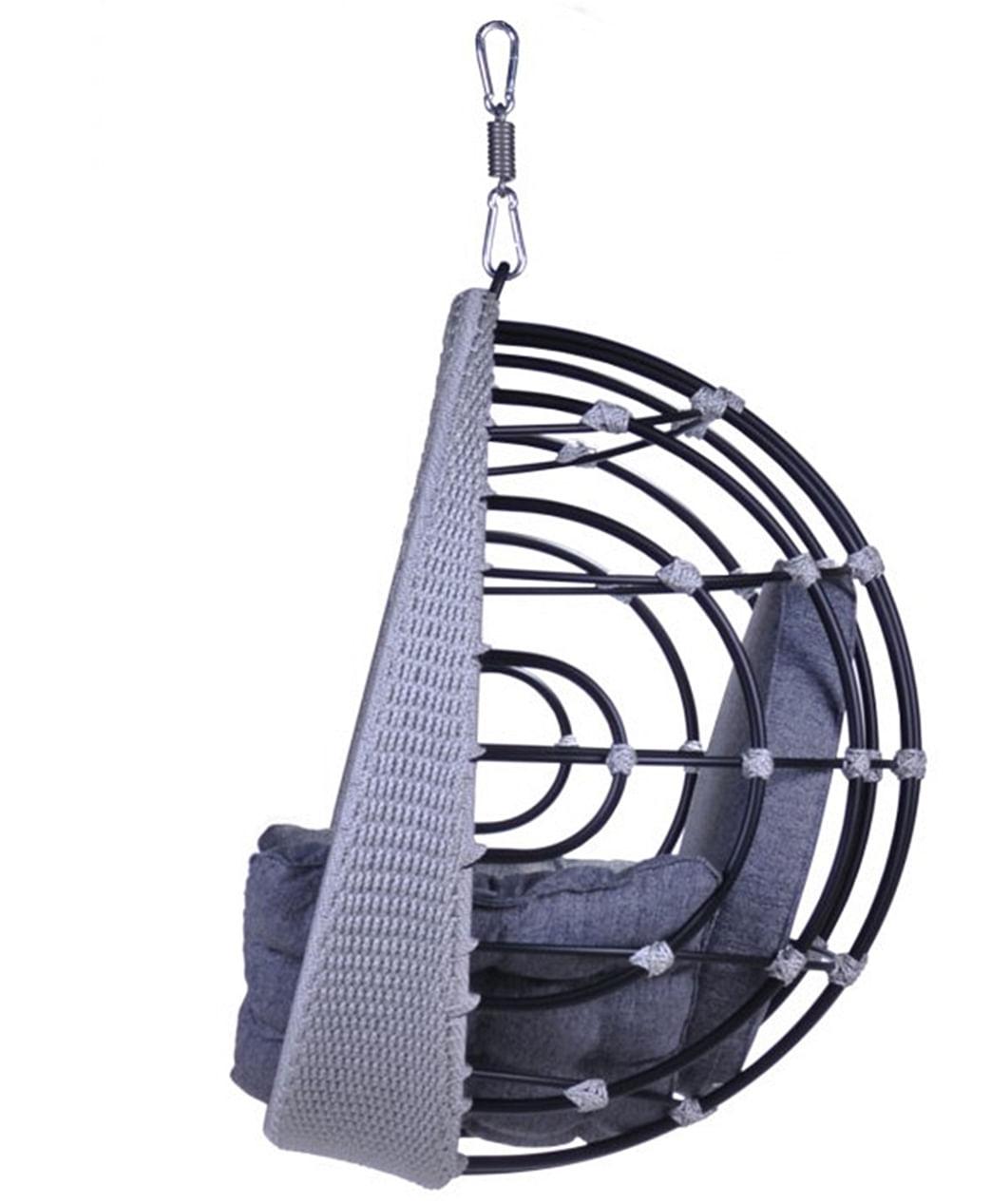 Poltrona de Balanco Bowl em Aluminio Revestido em Corda cor Azul - 45200