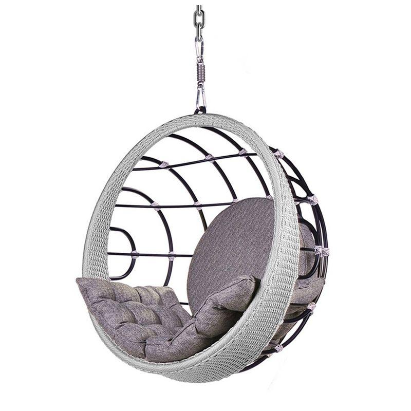 Poltrona-de-Balanco-Bowl-em-Aluminio-Revestido-em-Corda-cor-Prata-com-Suporte-de-Teto---45325