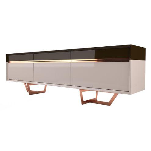 Buffet-Sorrento-em-Laccato-cor-Fendi-e-Marrom-Cafe-com-Base-Dourada-220-MT--LARG----45494