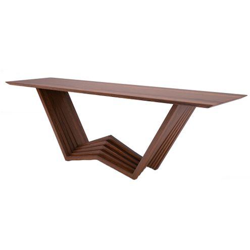 Aparador-Piramid-Tampo-Laminado-cor-Freijo-Tabaco-com-Base-Madeira-200-MT--LARG----45593