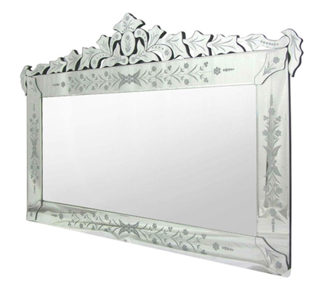 Espelho Veneziano Garden Cor Prata 1,00 MT (LARG) - 45829