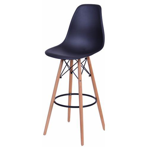Banqueta-Eames-Eiffel-6602-Polipropileno-Preto-Fosco-Base-Madeira---45936-