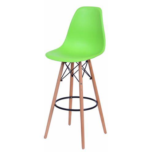 Banqueta-Eames-Eiffel-6602-Polipropileno-Verde-Fosco-Base-Madeira---45941-