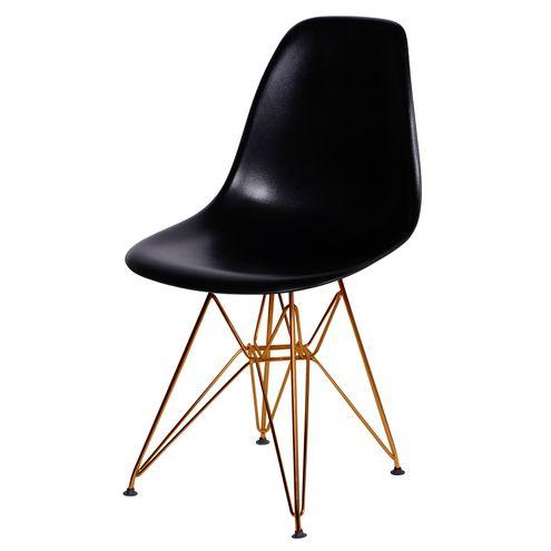Cadeira-Eames-Polipropileno-Fosco-Preto-Base-Cobre---45968