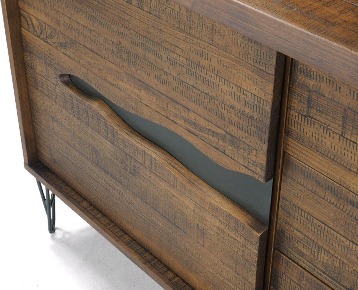 Buffet Aspen Metal Grafite Rustic Brown 1,52 MT (LARG) - 44627