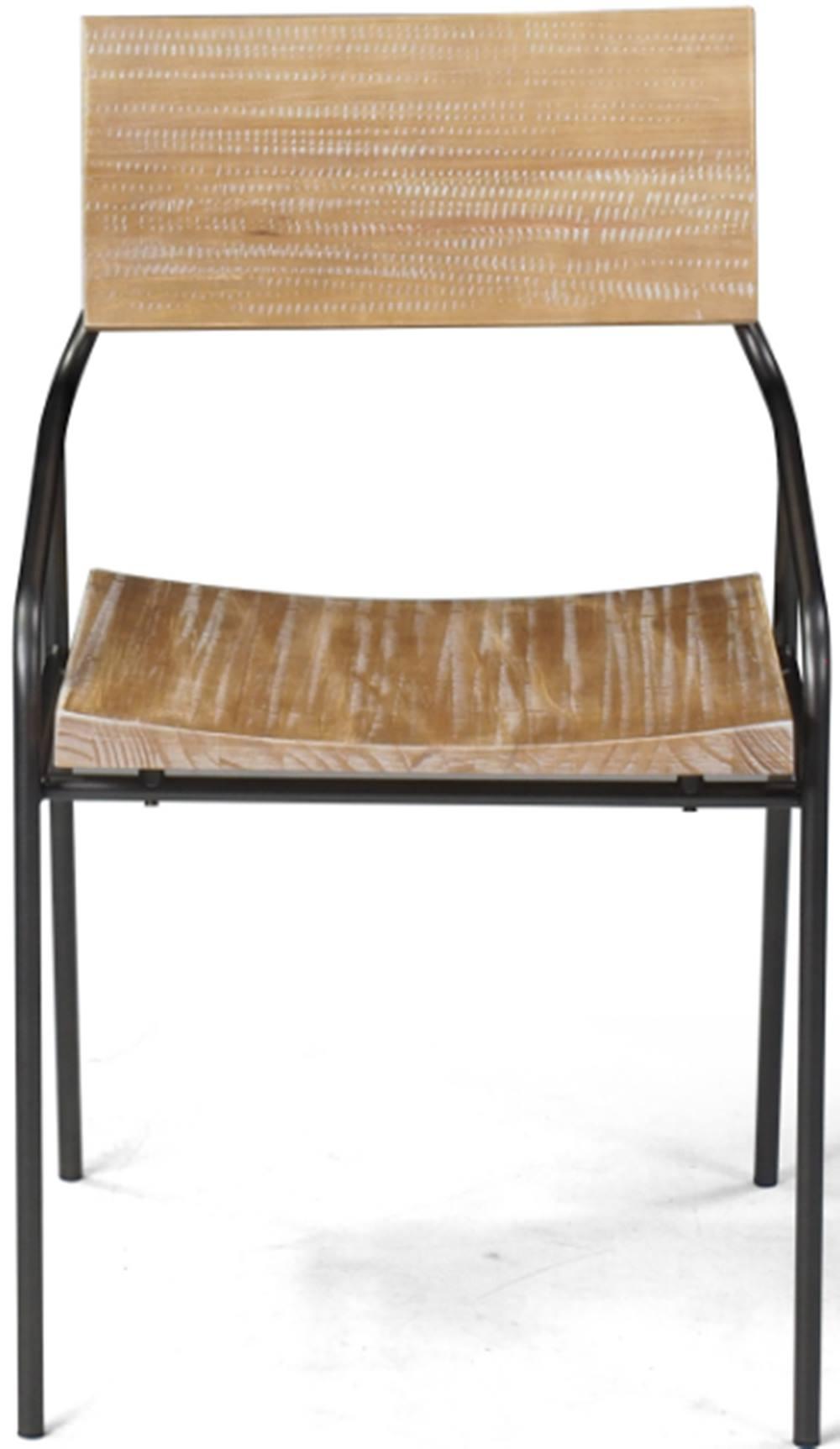 Cadeira Vail com Assento em Madeira Driftwood Base Aco Grafite - 46004