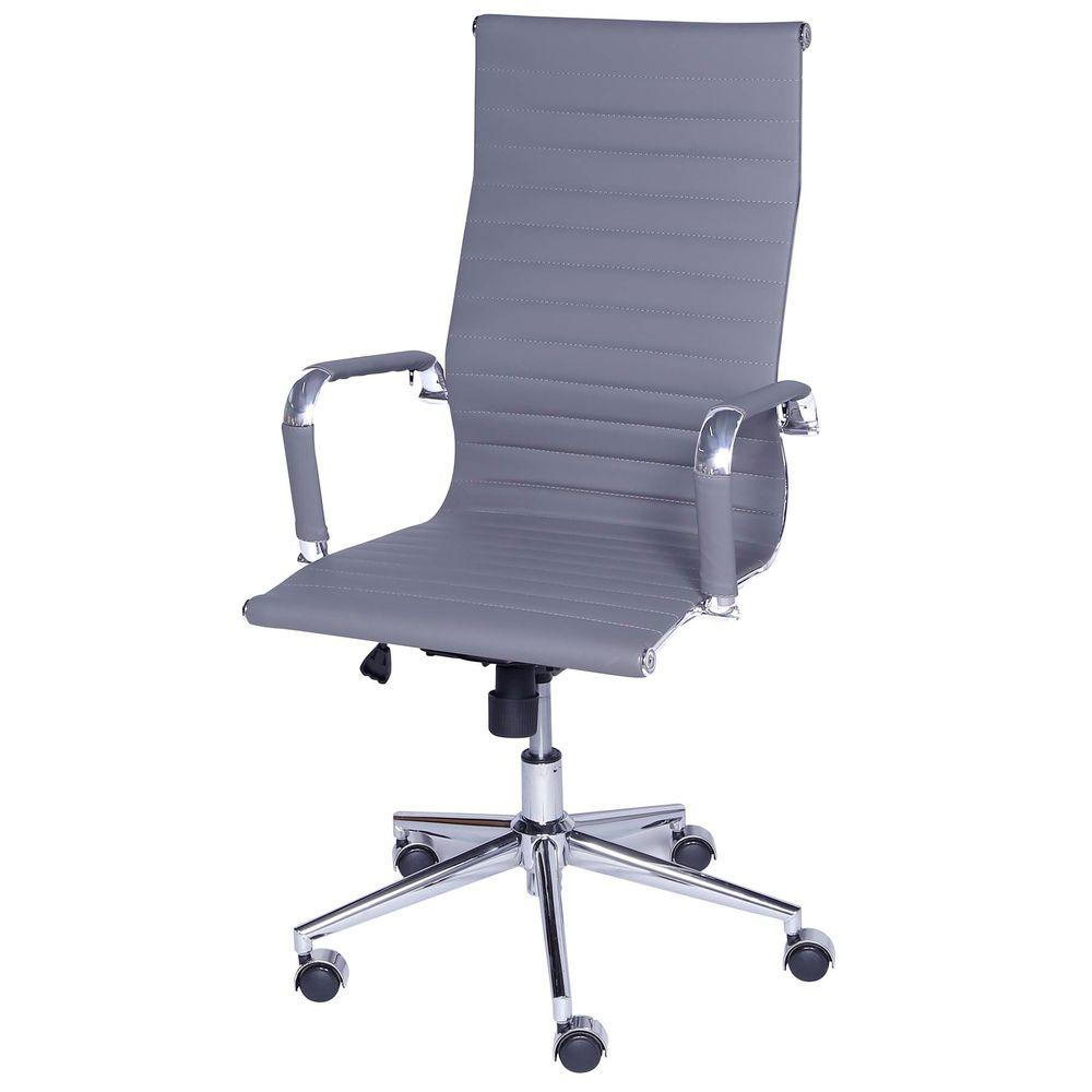 5ce20ea3e Cadeira Eames Alta Cinza Base Cromada - 27109 - SunHouse