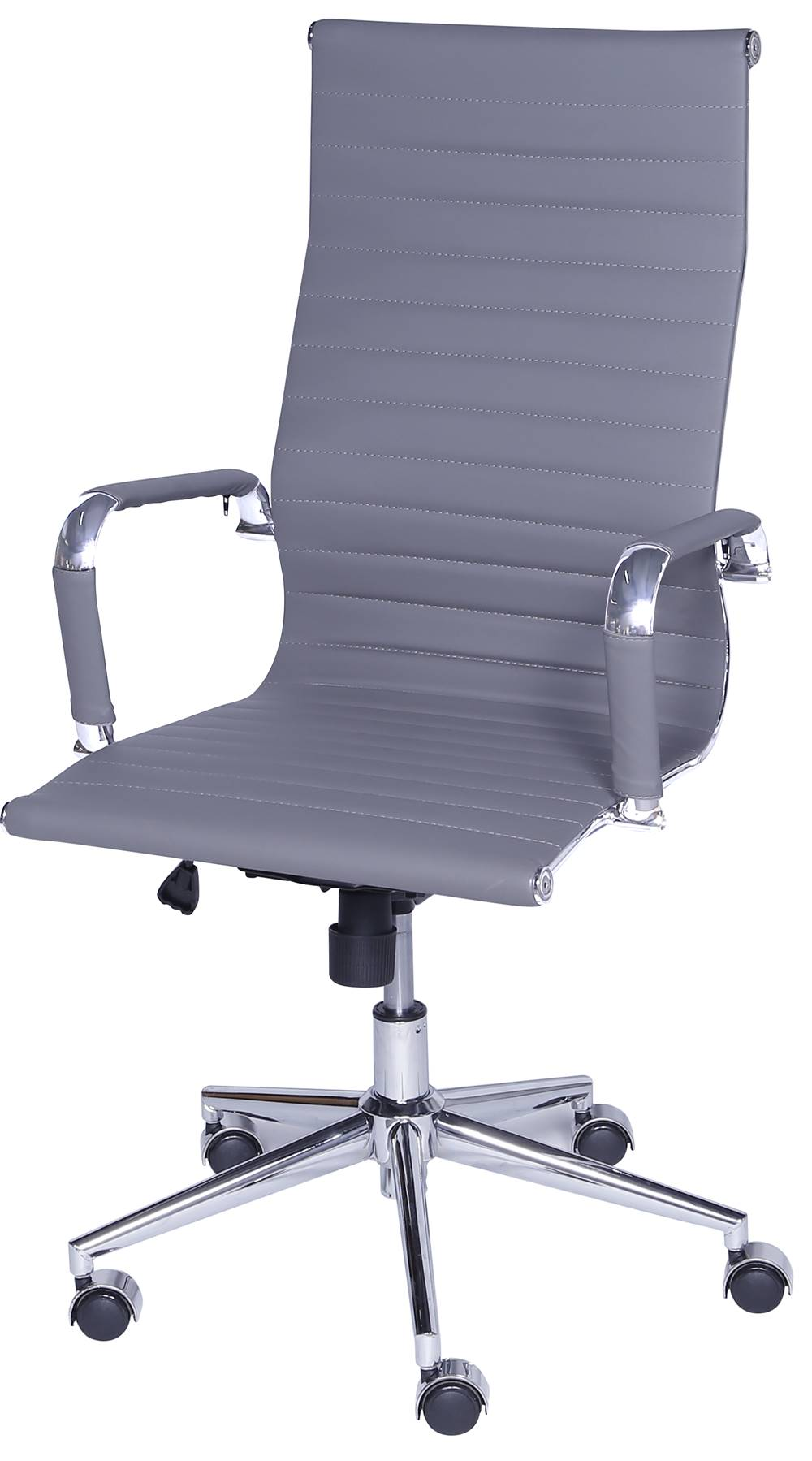 Cadeira Eames Alta Cinza Base Cromada - 27109