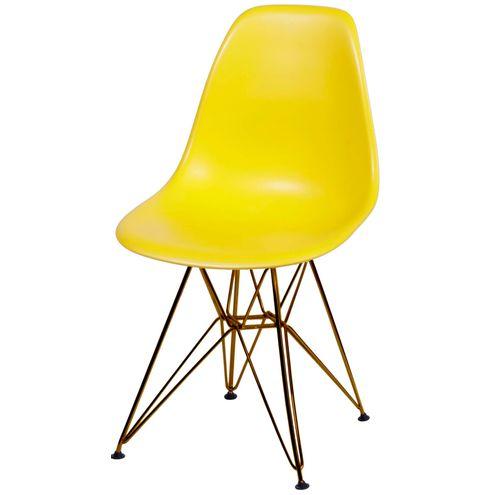 Cadeira-Eames-Polipropileno-Fosco-Amarela-Base-Cobre---45970