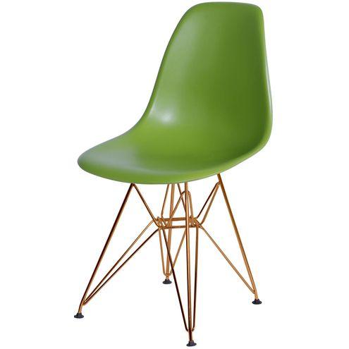 Cadeira-Eames-Polipropileno-Fosco-Verde-Base-Cobre---45972-