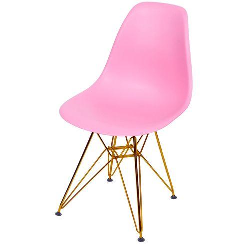 Cadeira-Eames-Polipropileno-Fosco-Rosa-Base-Cobre---45974-