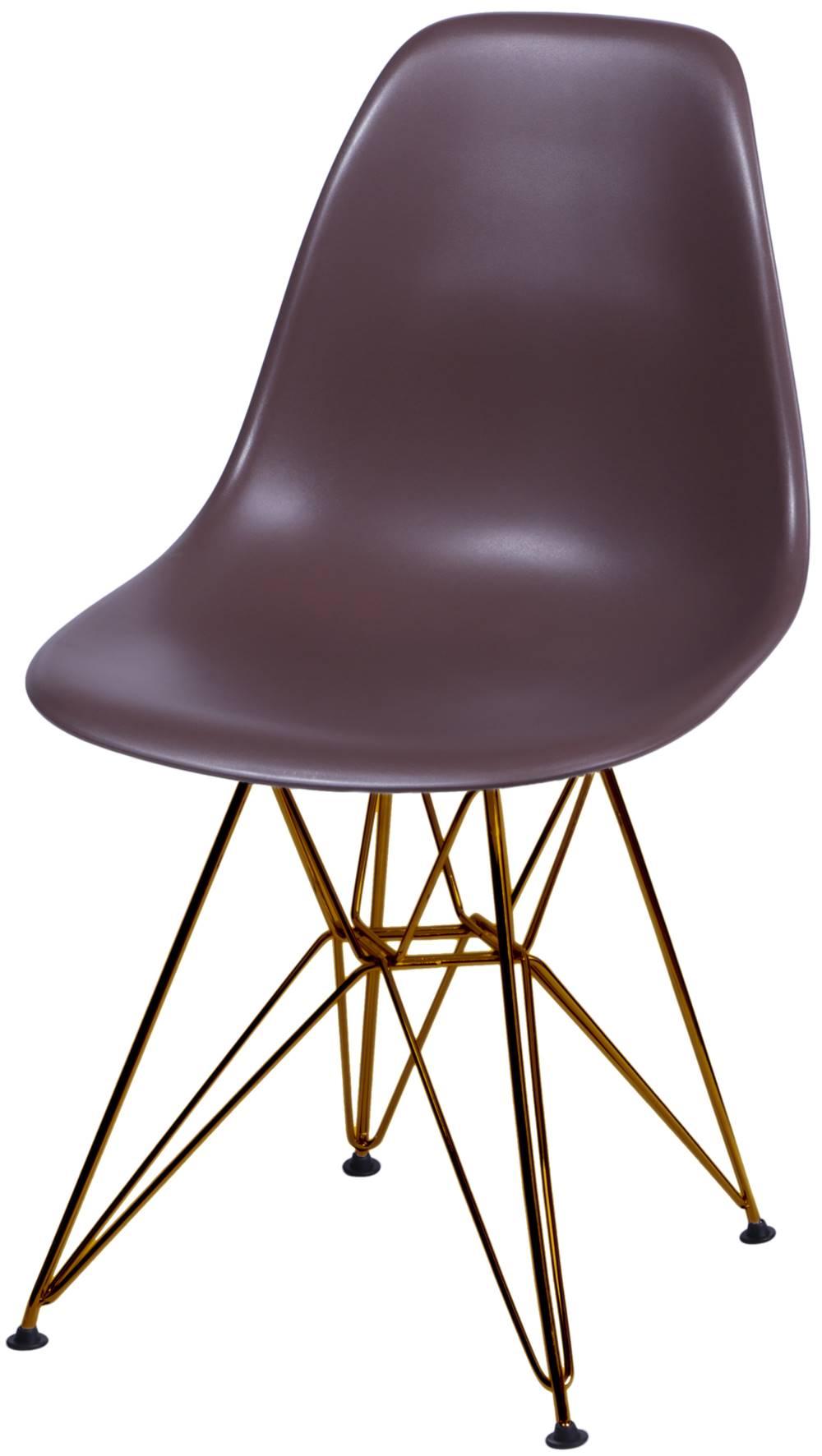 Cadeira Eames Polipropileno  Cafe Base Cobre - 45982