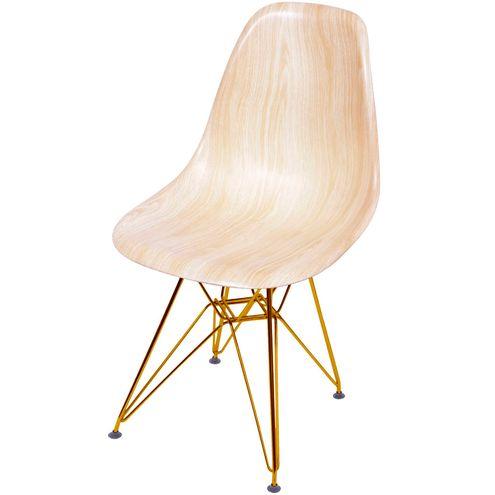 Cadeira-Eames-Polipropileno-Amadeirado-Claro-Base-Cobre---46145-