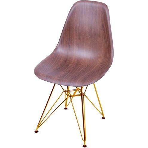Cadeira-Eames-Polipropileno-Amadeirado-Escura-Base-Cobre---46146-