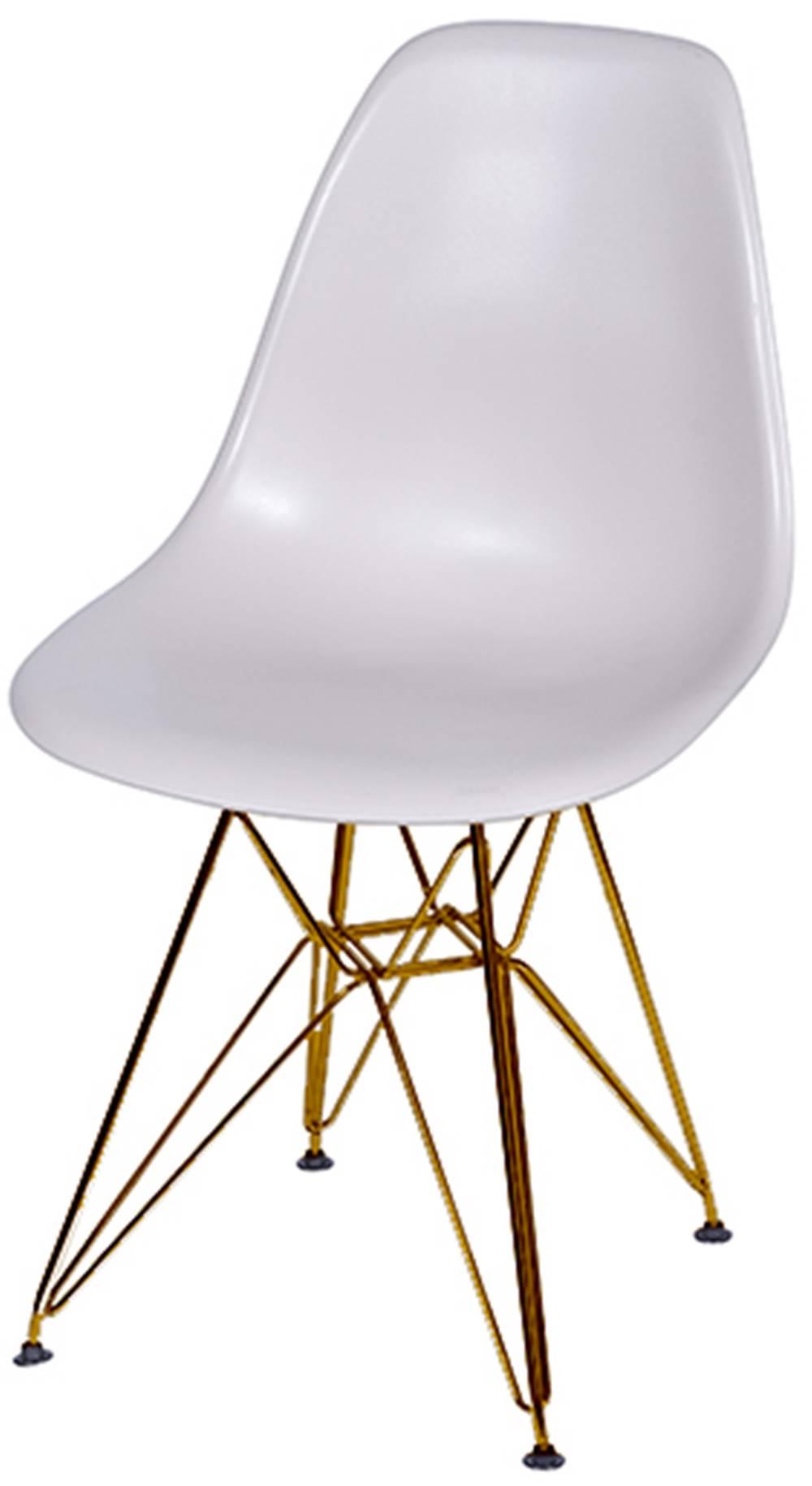 Cadeira Eames Polipropileno Fendi Base Cobre - 45981