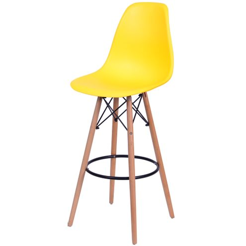 Banqueta-Eames-Eiffel-6602-Polipropileno-Amarela-Fosco-Base-Madeira---45938-