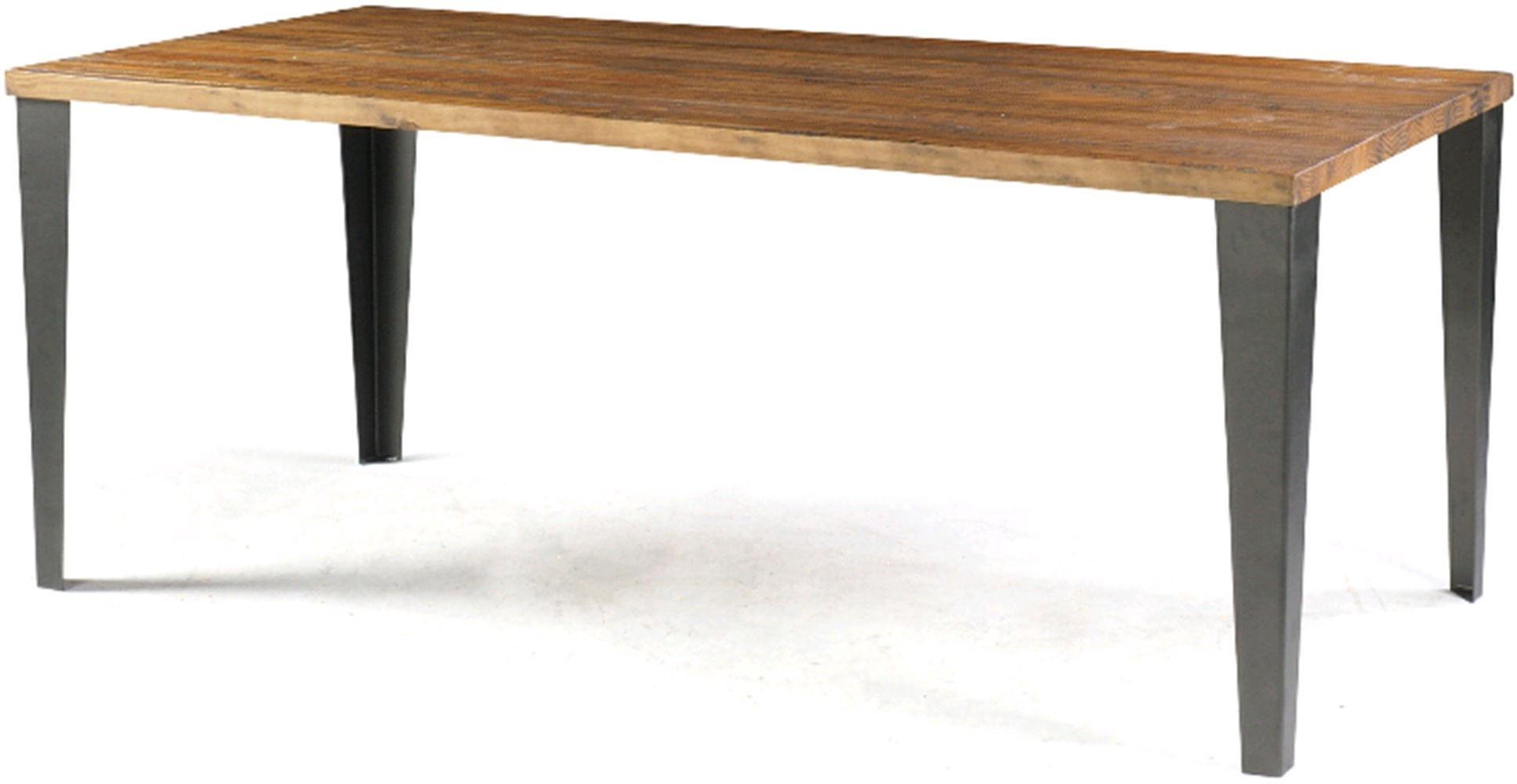 Mesa Jantar Victoria Metal Grafite Rustic Brown 1,60 MT (LARG) - 46215