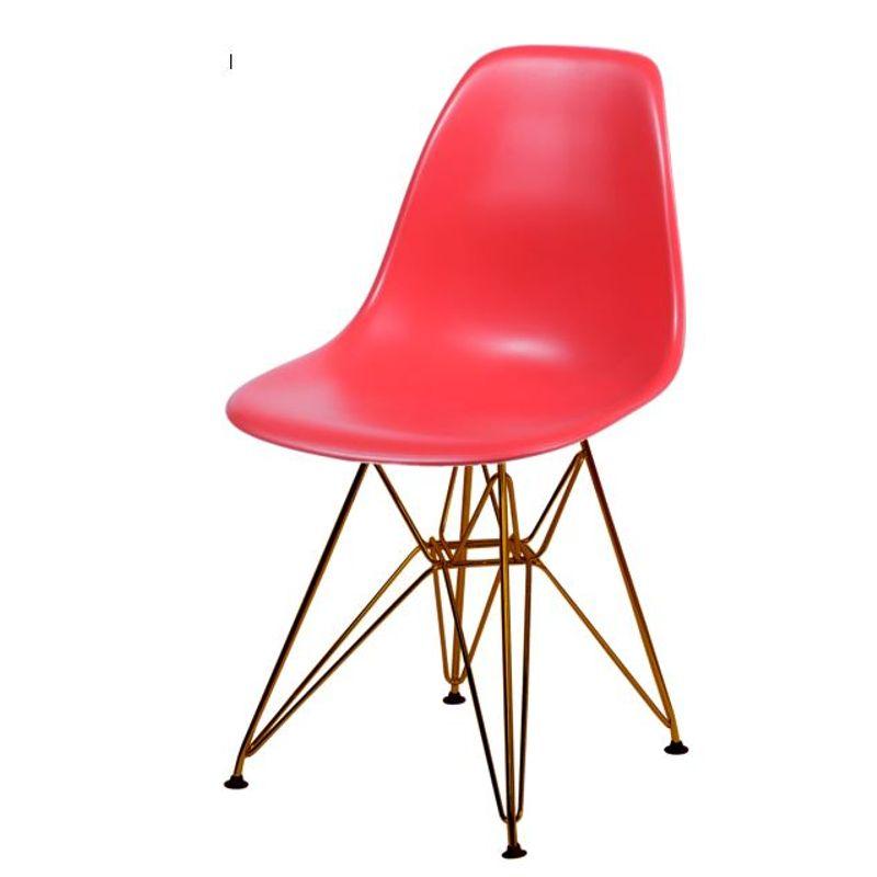 Cadeira-Eames-Polipropileno-Fosco-Vermelho-Base-Cobre---45969---Inativ
