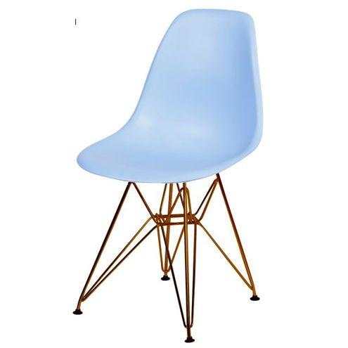 Cadeira-Eames-Polipropileno-Fosco-Azul-Claro-Base-Cobre---45975-